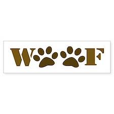 WOOF Bumper Bumper Sticker