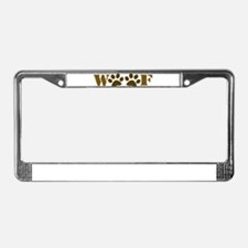 WOOF License Plate Frame