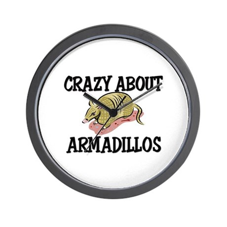 Crazy About Armadillos Wall Clock