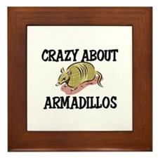 Crazy About Armadillos Framed Tile