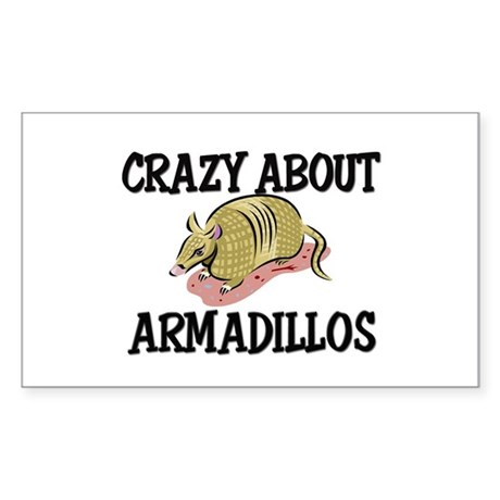 Crazy About Armadillos Rectangle Sticker