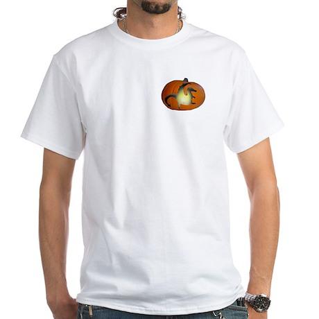 Halloween Drag-o-Lantern Cemetery T-Shirt(wht)