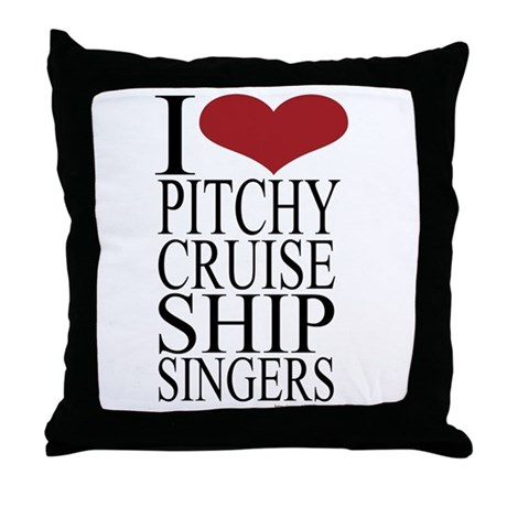 Pitchy Singers Rule Throw Pillow
