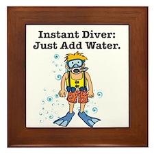 Instant Diver Framed Tile
