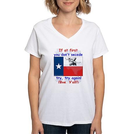 Bye, Y'all! Women's V-Neck T-Shirt
