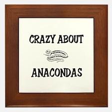 Crazy About Anacondas Framed Tile