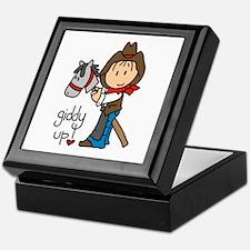 Giddy Up Cowboy Keepsake Box