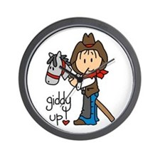 Giddy Up Cowboy Wall Clock