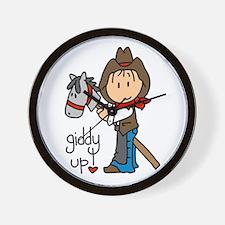 Giddy Up Cowboy Wall Clock