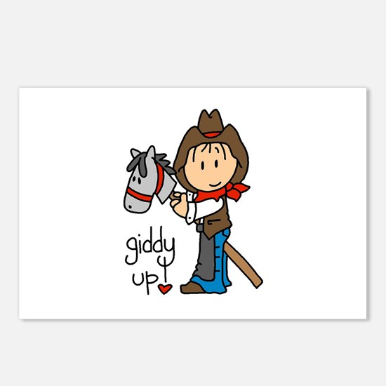 Giddy Up Cowboy Postcards (Package of 8)
