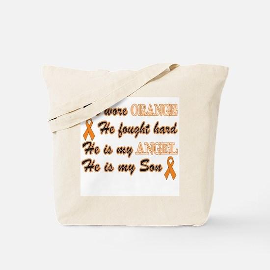 He is my Son Orange Angel Tote Bag