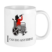 Female Wheelchair Singer Small Mug