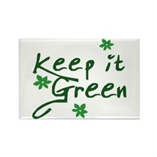 Keep it Green Rectangle Magnet