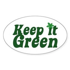Keep it Green Oval Decal