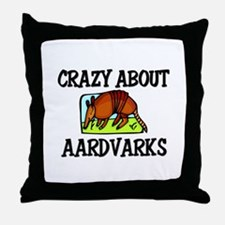 Crazy About Aardvarks Throw Pillow