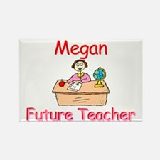 Megan - Future Teacher Rectangle Magnet