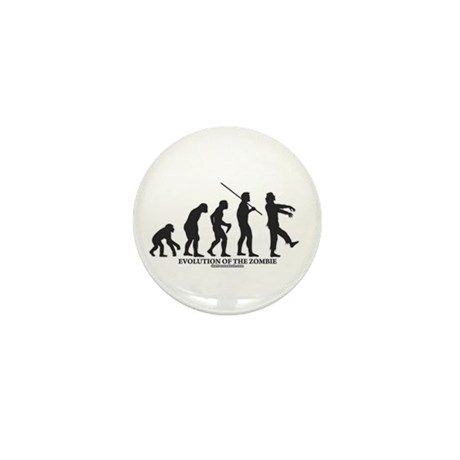 Evolution of the Zombie Mini Button (100 pack)