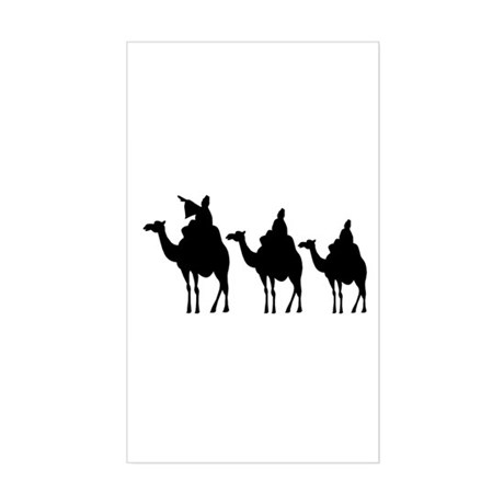 3 Wise Men Rectangle Sticker