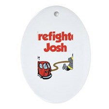 Firefighter Josh Oval Ornament