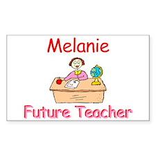 Melanie - Future Teacher Rectangle Decal