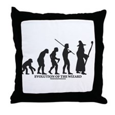 Evolution of the Wizard Throw Pillow