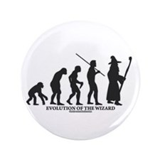 "Evolution of the Wizard 3.5"" Button (100 pack)"