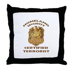 DHS Terrorist Throw Pillow