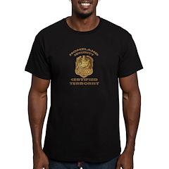 DHS Terrorist Men's Fitted T-Shirt (dark)
