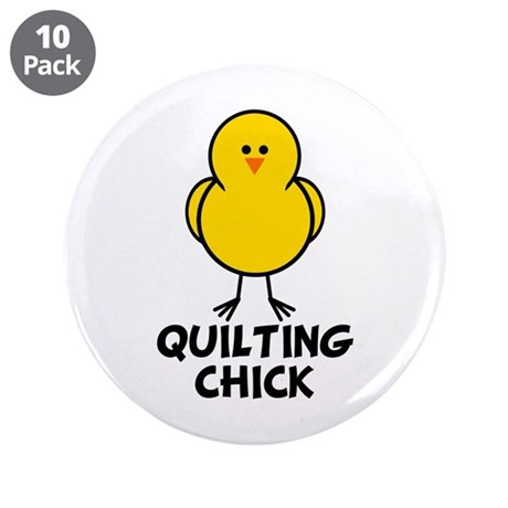 """Quilting Chick 3.5"""" Button (10 pack)"""