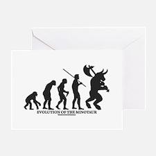Evolution of the Minotaur Greeting Card