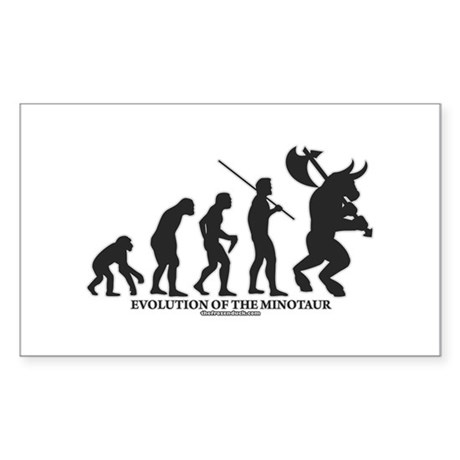Evolution of the Minotaur Rectangle Sticker