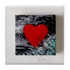 Love in a Storm Tile Coaster
