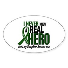 REAL HERO 2 Daughter LiC Oval Bumper Stickers