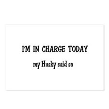 I'm in Charge Husky Postcards (Package of 8)
