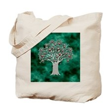 Orchard Tote Bag (Apples/Green)
