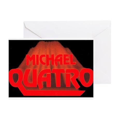 Red Quatro Greeting Cards (Pk of 10)