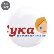 """It's more fun 3.5"""" Button (10 pack)"""
