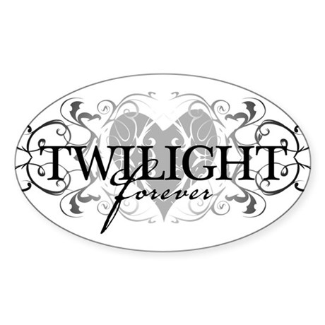 Twilight Forever Oval Sticker