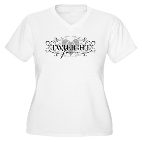 Twilight Forever Women's Plus Size V-Neck T-Shirt
