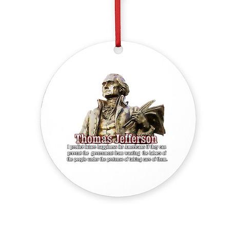 Thomas Jefferson founding father Ornament (Round)