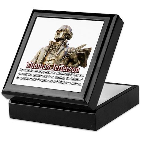 Thomas Jefferson founding father Keepsake Box