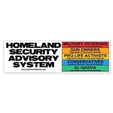 Homeland Insults Bumper Bumper Sticker