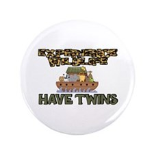 """Experience WIldlife Have Twins 3.5"""" Button"""