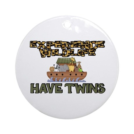 Experience WIldlife Have Twins Ornament (Round)