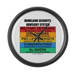Homeland Insults Large Wall Clock