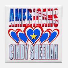 Americans Love Cindy Sheehan Tile Coaster