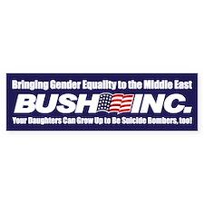 GENDER EQUALITY Bumper Bumper Sticker