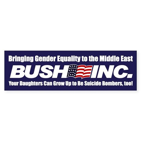 GENDER EQUALITY Bumper Sticker