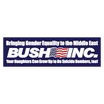 GENDER EQUALITY Bumper Sticker