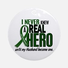 REAL HERO 2 Husband LiC Ornament (Round)